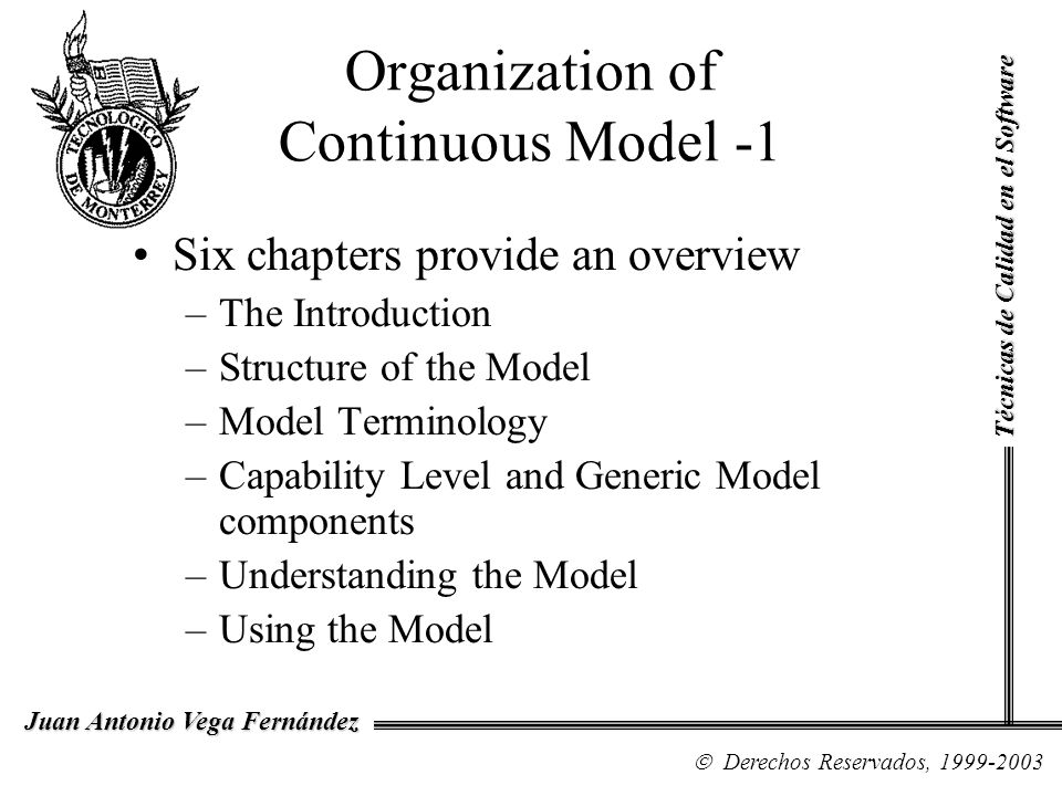 Organization of Continuous Model -1