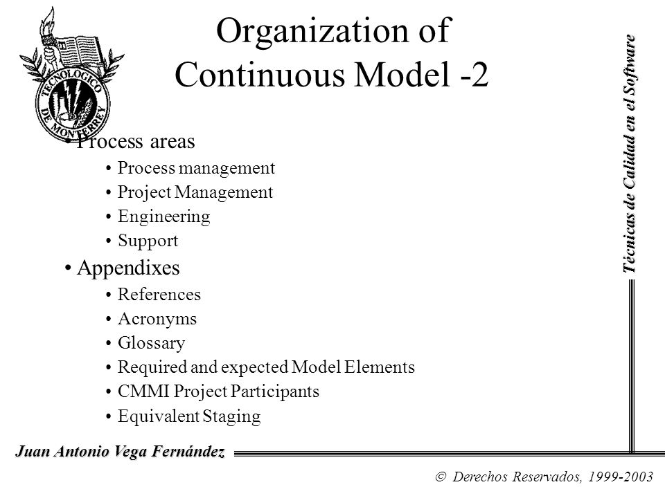 Organization of Continuous Model -2