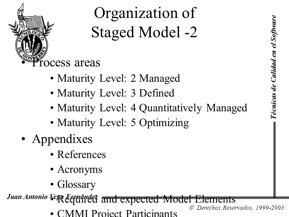 Organization of Staged Model -2