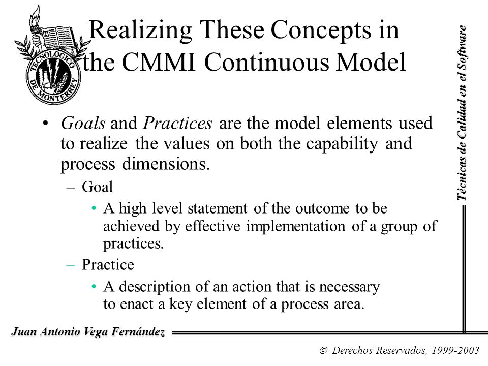 Realizing These Concepts in the CMMI Continuous Model