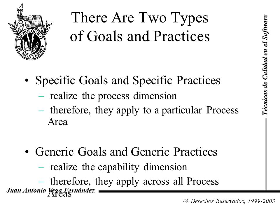 There Are Two Types of Goals and Practices