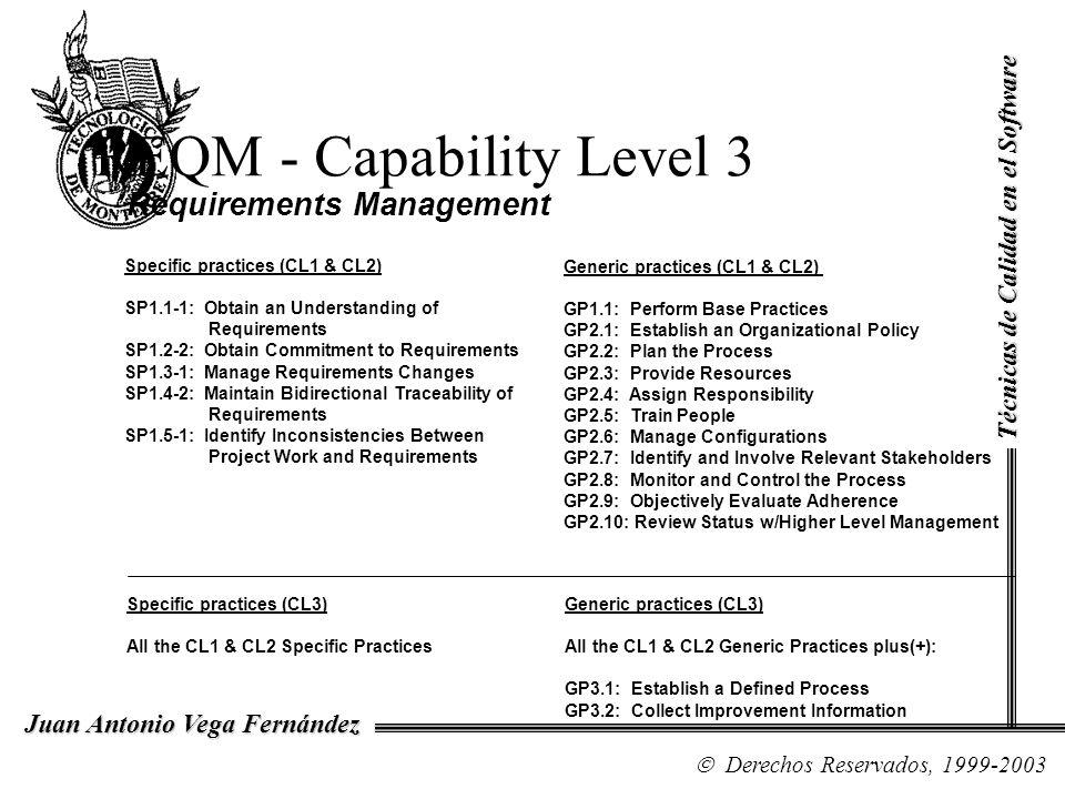 REQM - Capability Level 3