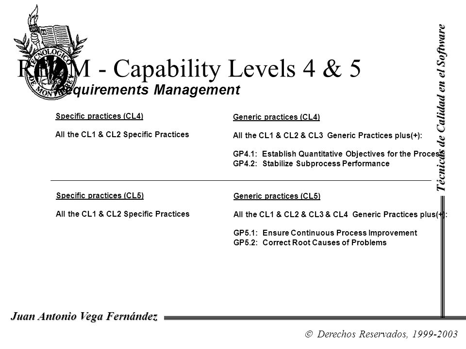 REQM - Capability Levels 4 & 5