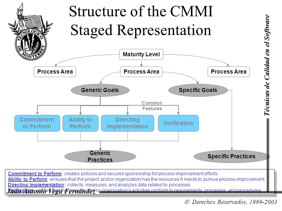 Structure of the CMMI Staged Representation