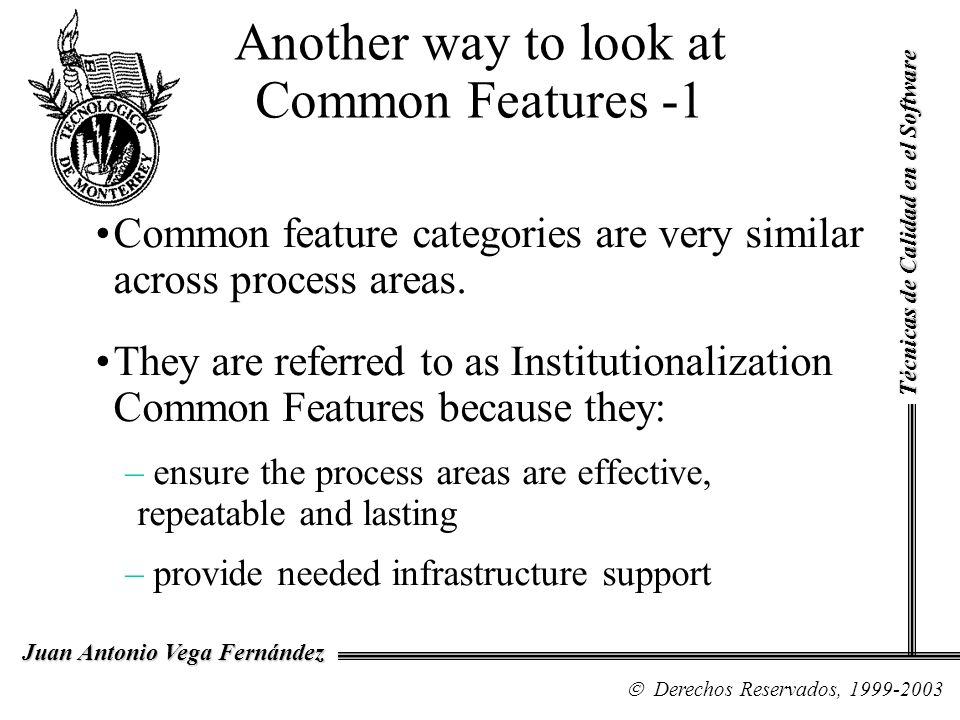 Another way to look at Common Features -1