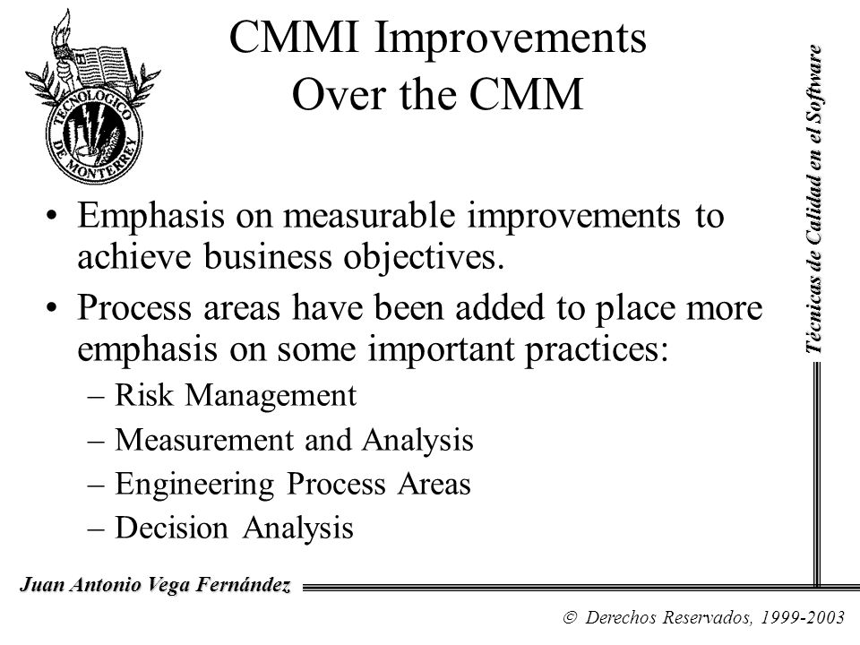 CMMI Improvements Over the CMM