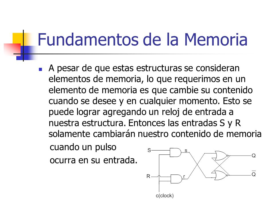 Fundamentos de la Memoria