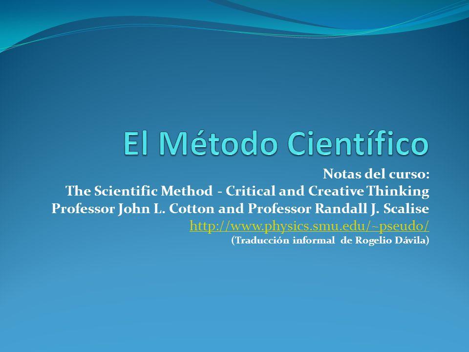 El Método Científico Notas del curso: