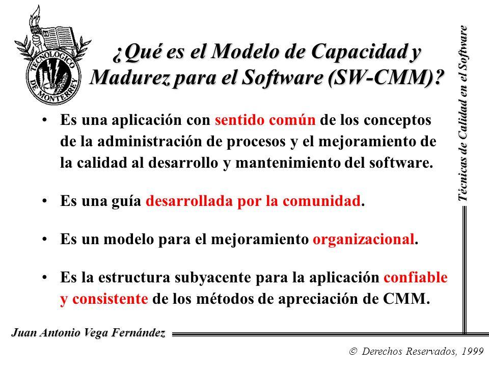 ¿Qué es el Modelo de Capacidad y Madurez para el Software (SW-CMM)