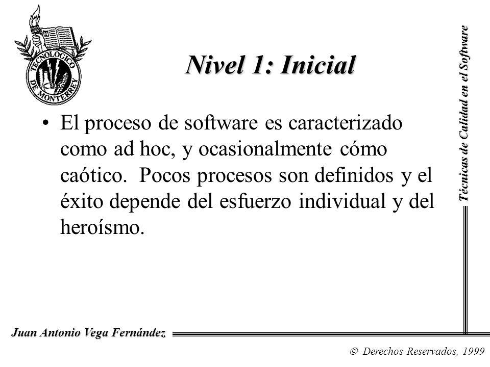 Nivel 1: InicialTécnicas de Calidad en el Software.