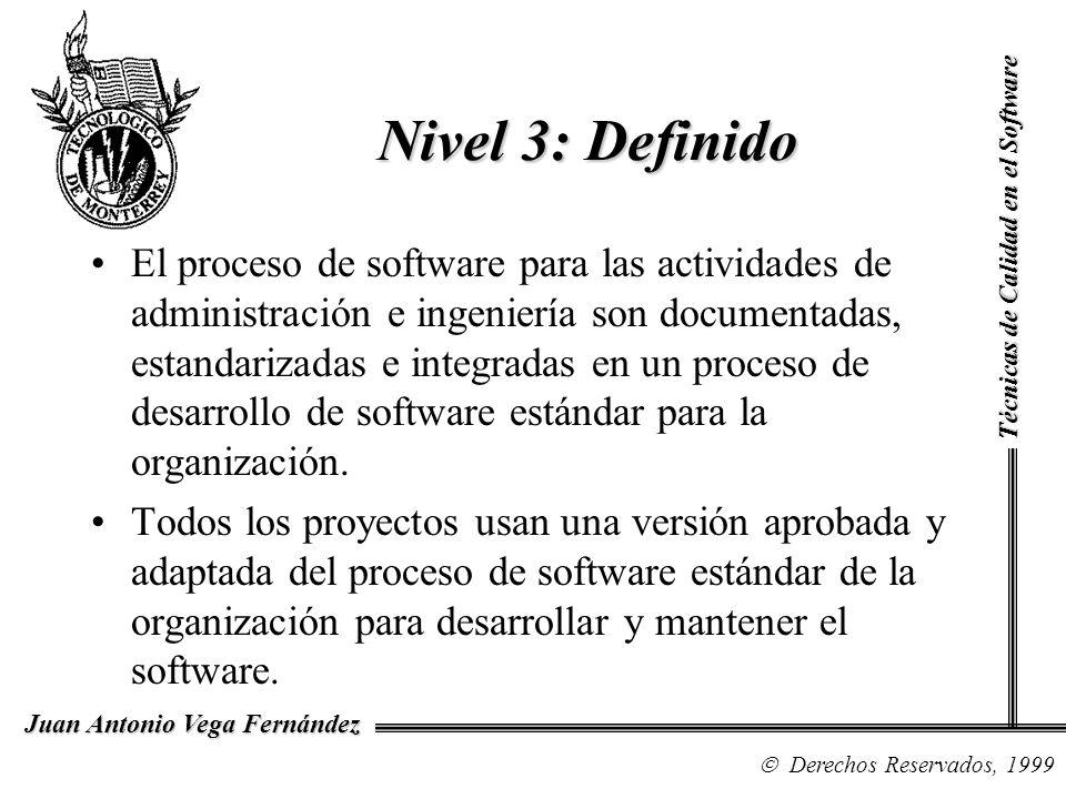 Nivel 3: DefinidoTécnicas de Calidad en el Software.