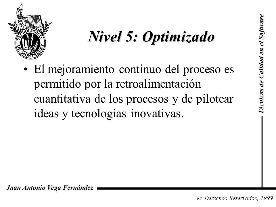 Nivel 5: OptimizadoTécnicas de Calidad en el Software.