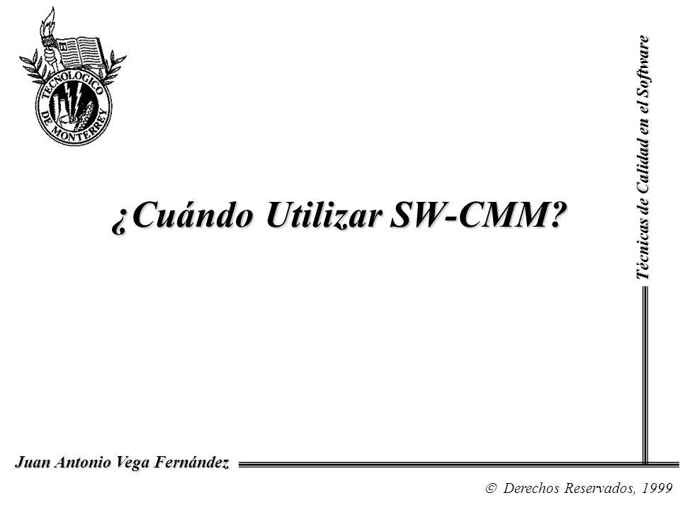 ¿Cuándo Utilizar SW-CMM