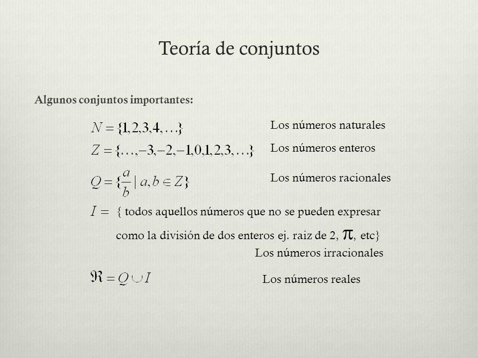Teoría de conjuntos Los números naturales Los números enteros