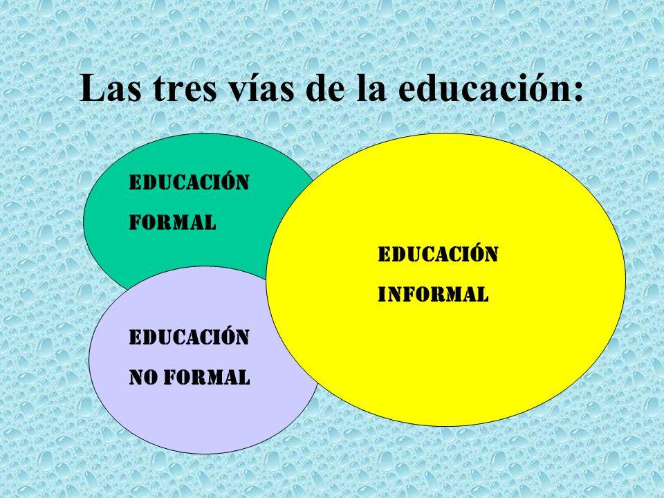 Las tres vías de la educación: