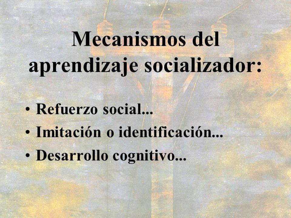 Mecanismos del aprendizaje socializador: