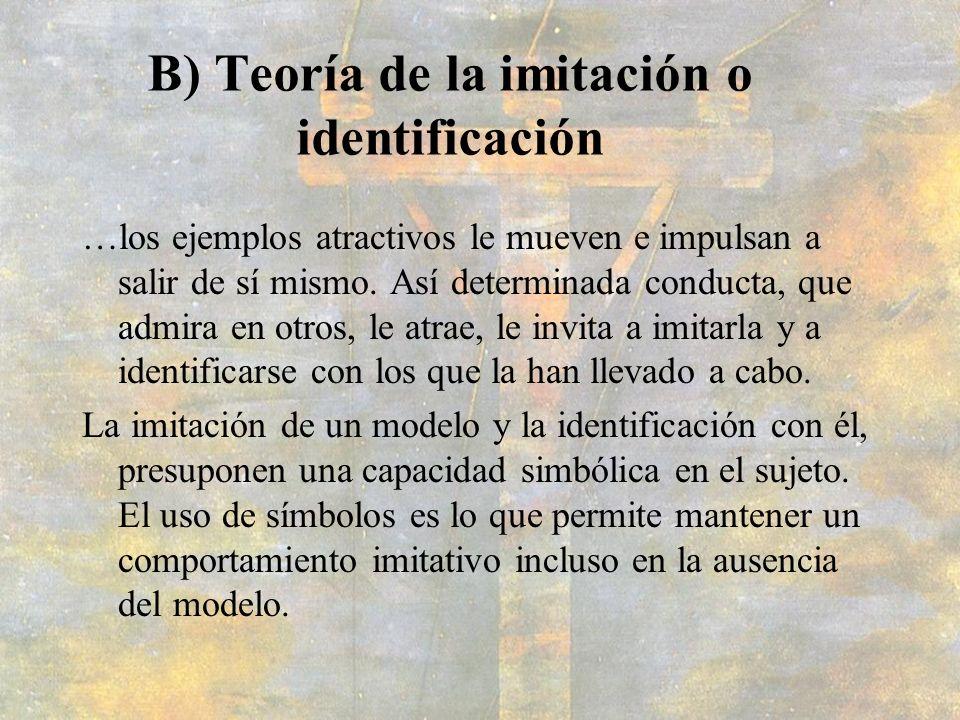 B) Teoría de la imitación o identificación