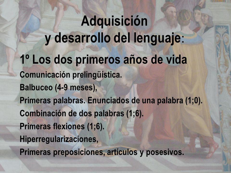 Adquisición y desarrollo del lenguaje: