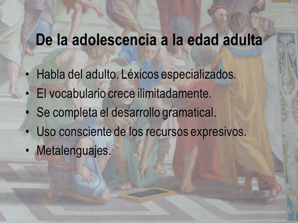 De la adolescencia a la edad adulta