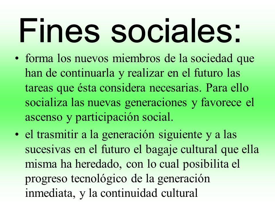 Fines sociales: