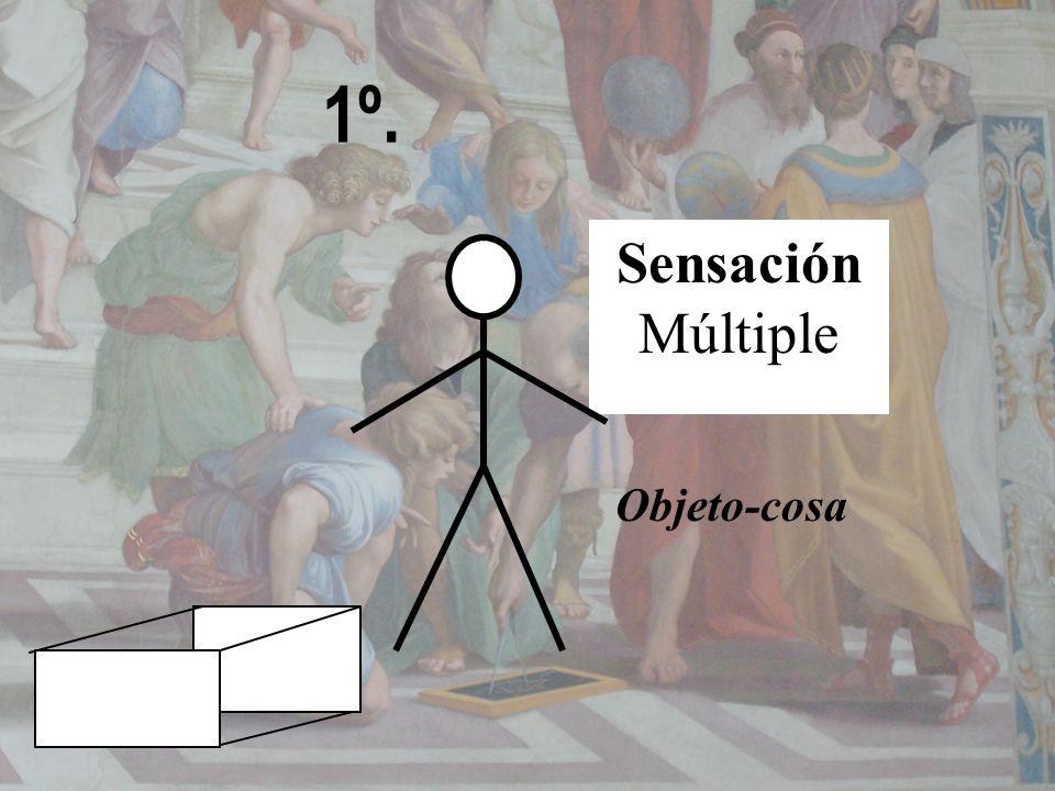 1º. Sensación Múltiple Objeto-cosa