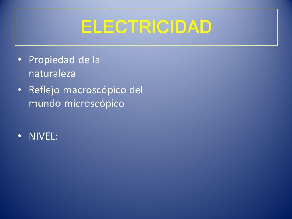 ELECTRICIDAD Propiedad de la naturaleza