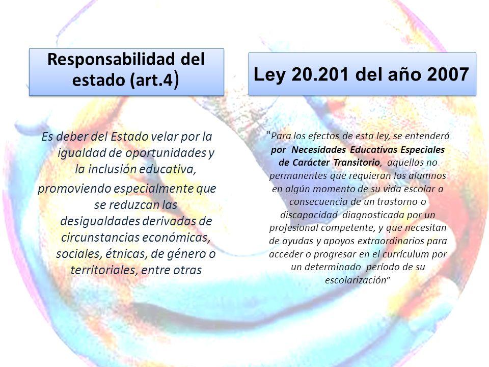 Responsabilidad del estado (art.4)