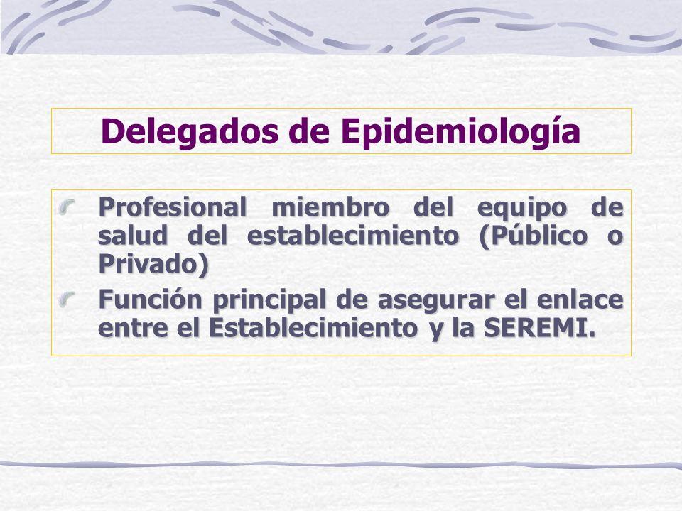 Delegados de Epidemiología