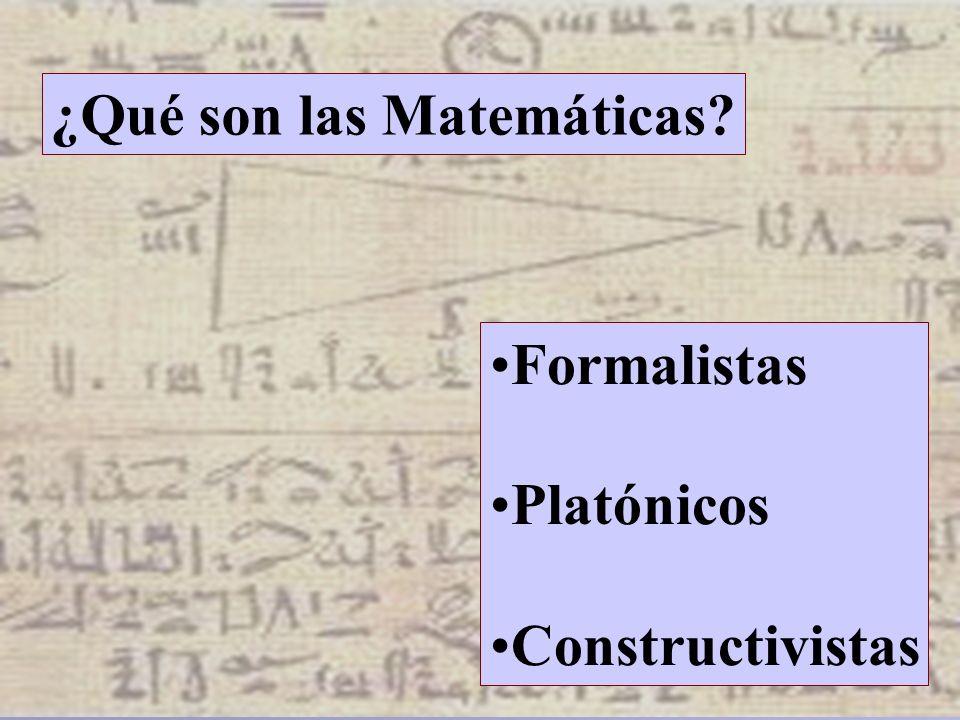 ¿Qué son las Matemáticas