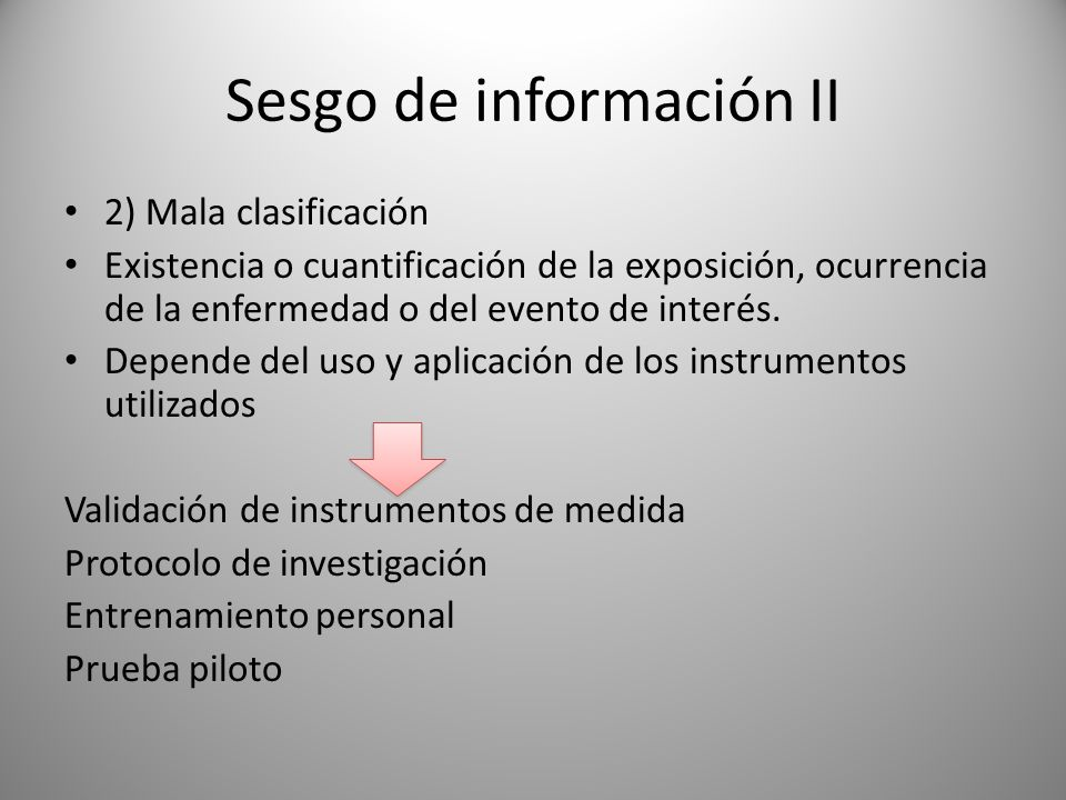 Sesgo de información II