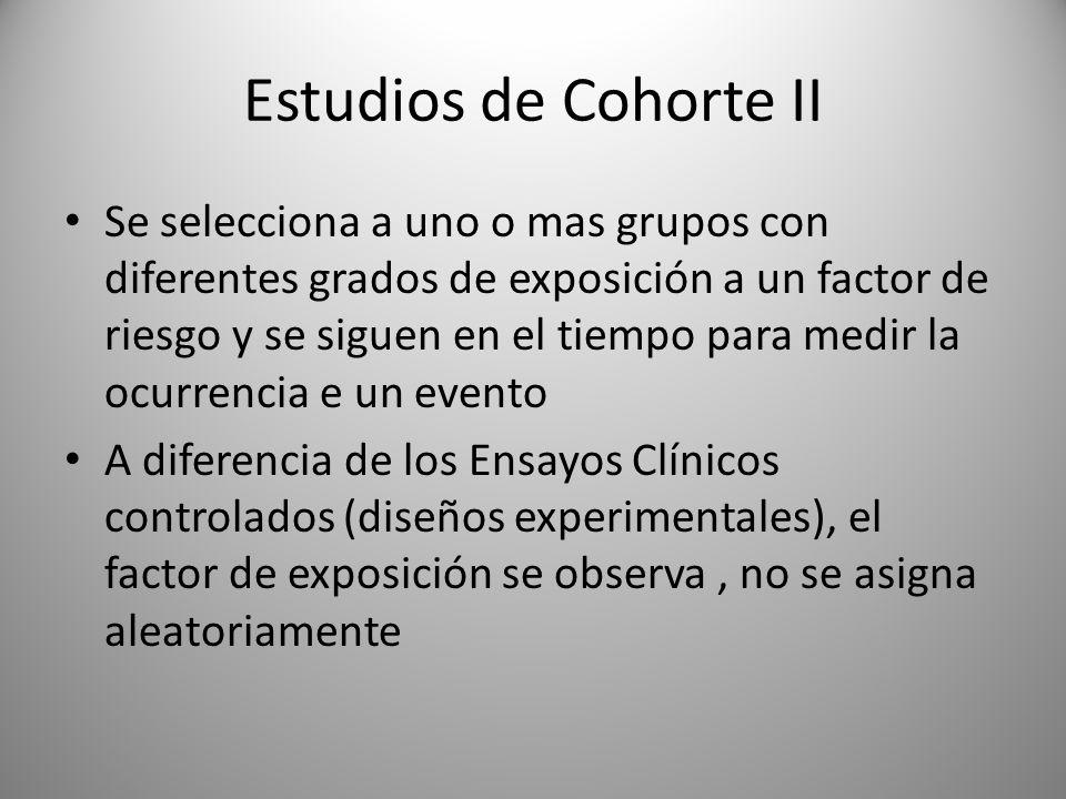 Estudios de Cohorte II