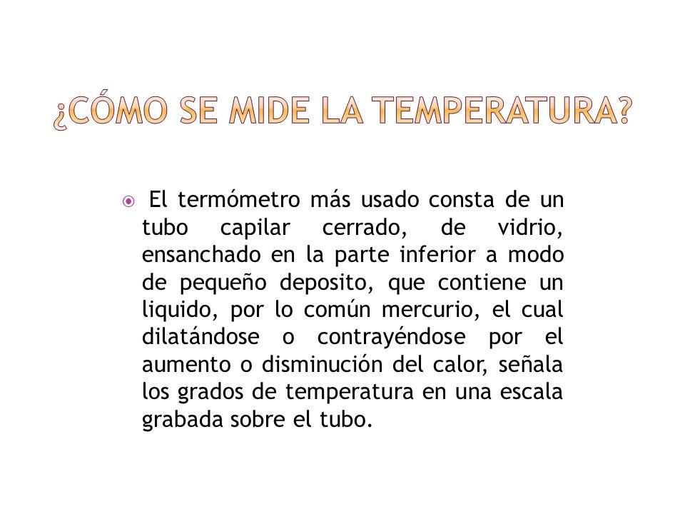 ¿Cómo se mide la temperatura