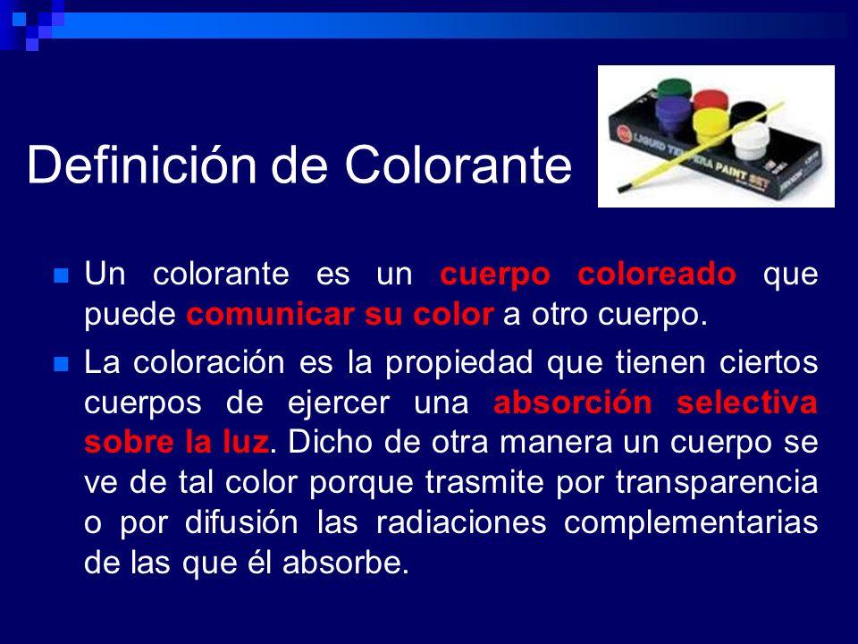 Definición de Colorante