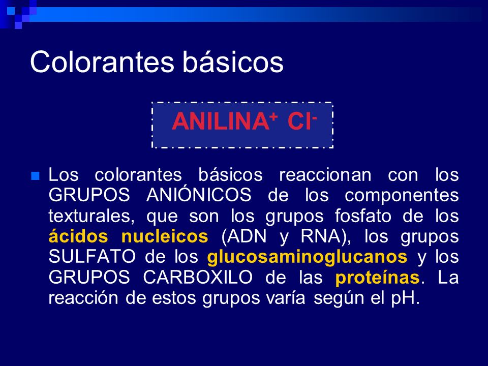 Colorantes básicos ANILINA+ Cl-