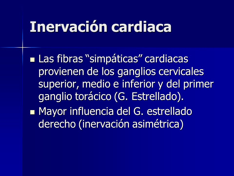 Inervación cardiaca