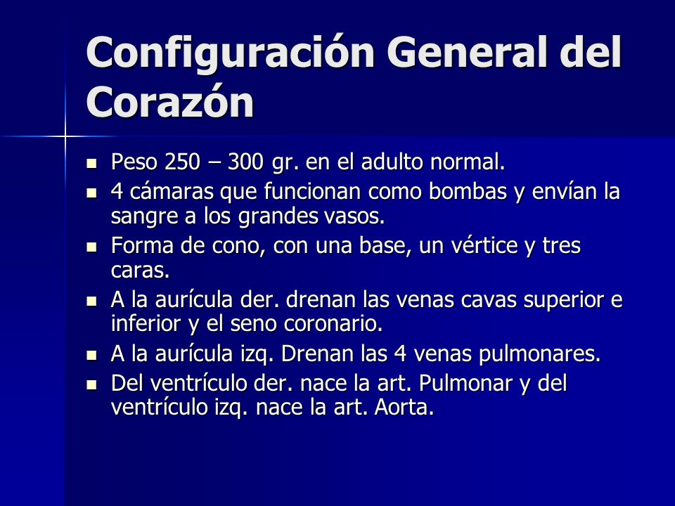 Configuración General del Corazón