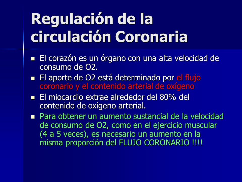 Regulación de la circulación Coronaria