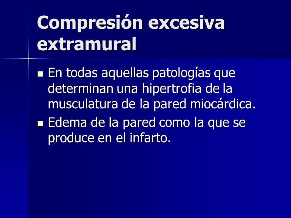 Compresión excesiva extramural