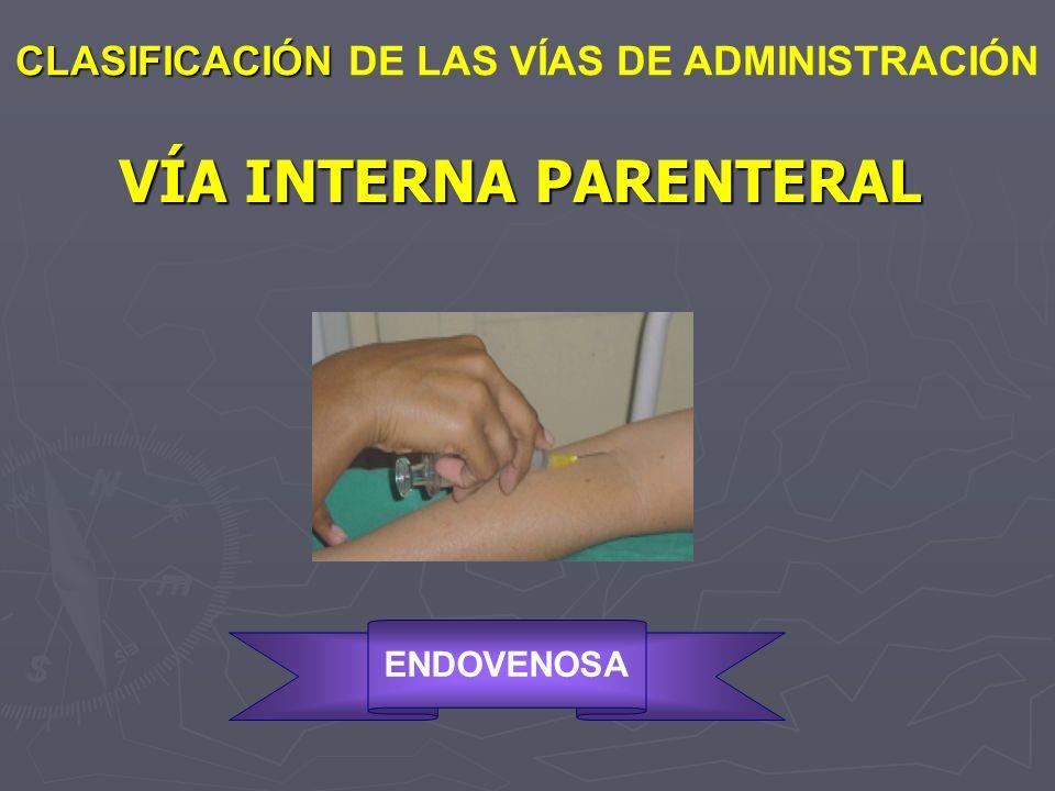 VÍA INTERNA PARENTERAL