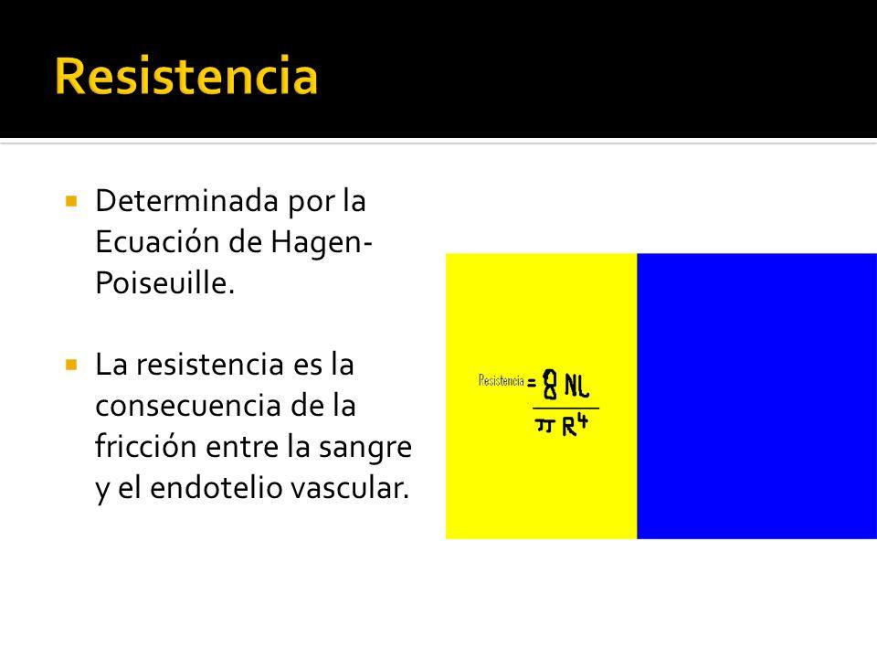 Resistencia Determinada por la Ecuación de Hagen-Poiseuille.