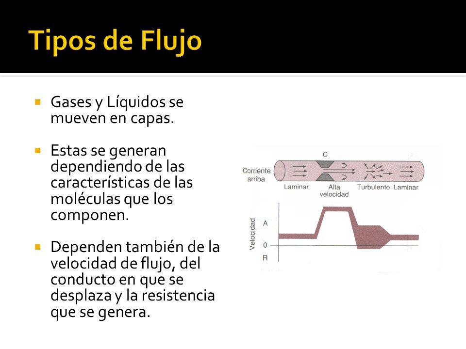 Tipos de Flujo Gases y Líquidos se mueven en capas.