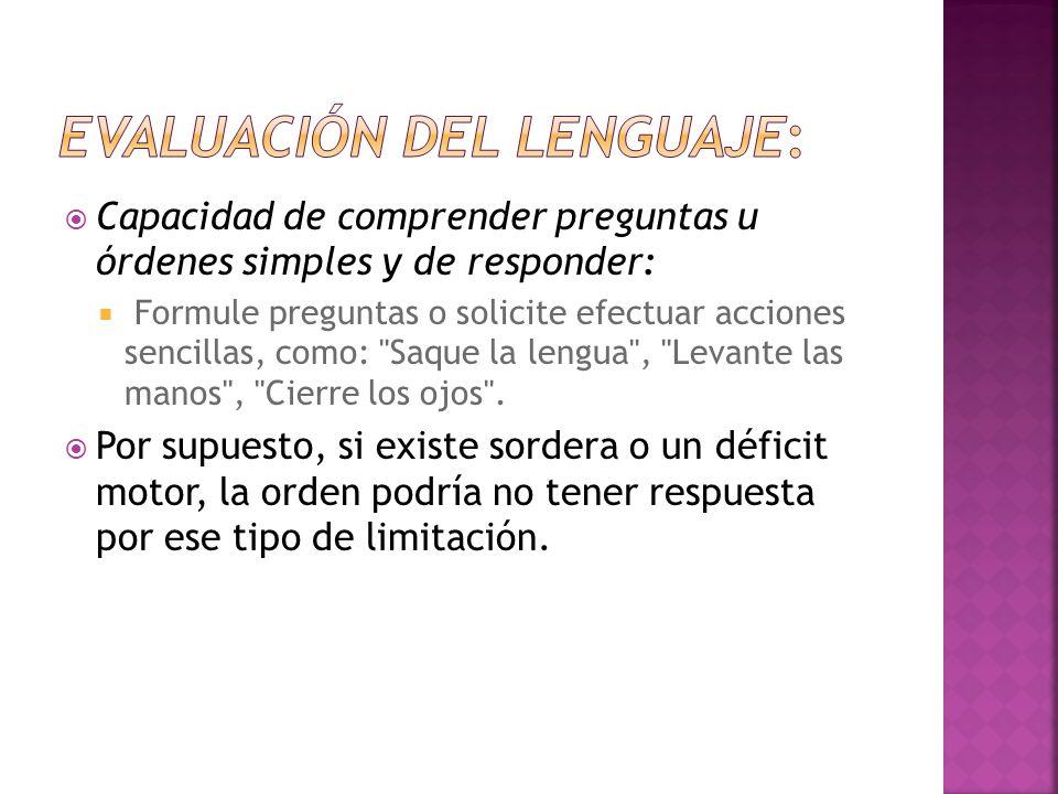 Evaluación del lenguaje: