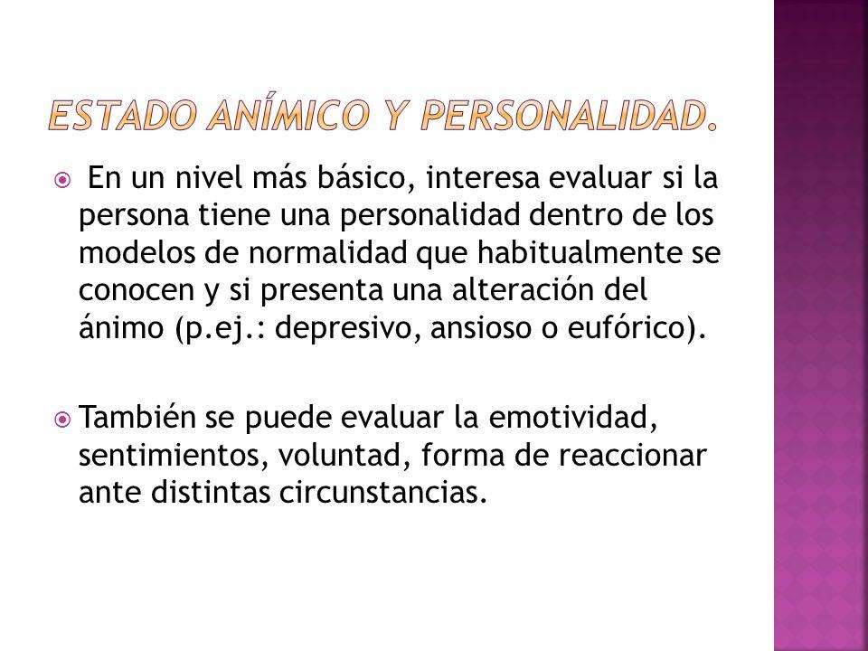 Estado anímico y personalidad.