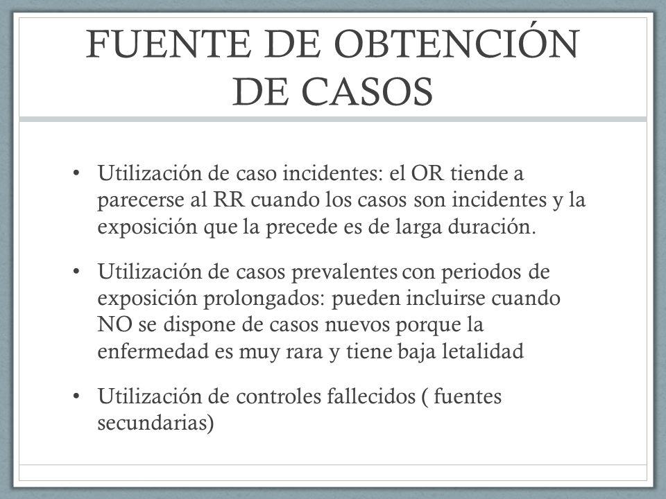 FUENTE DE OBTENCIÓN DE CASOS