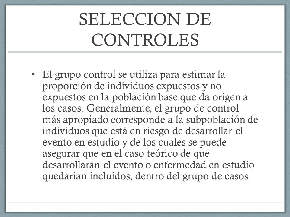 SELECCION DE CONTROLES