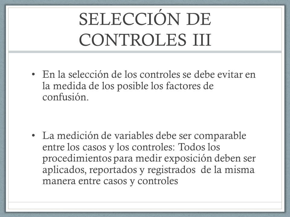 SELECCIÓN DE CONTROLES III