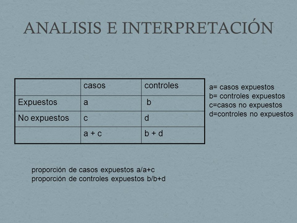 ANALISIS E INTERPRETACIÓN