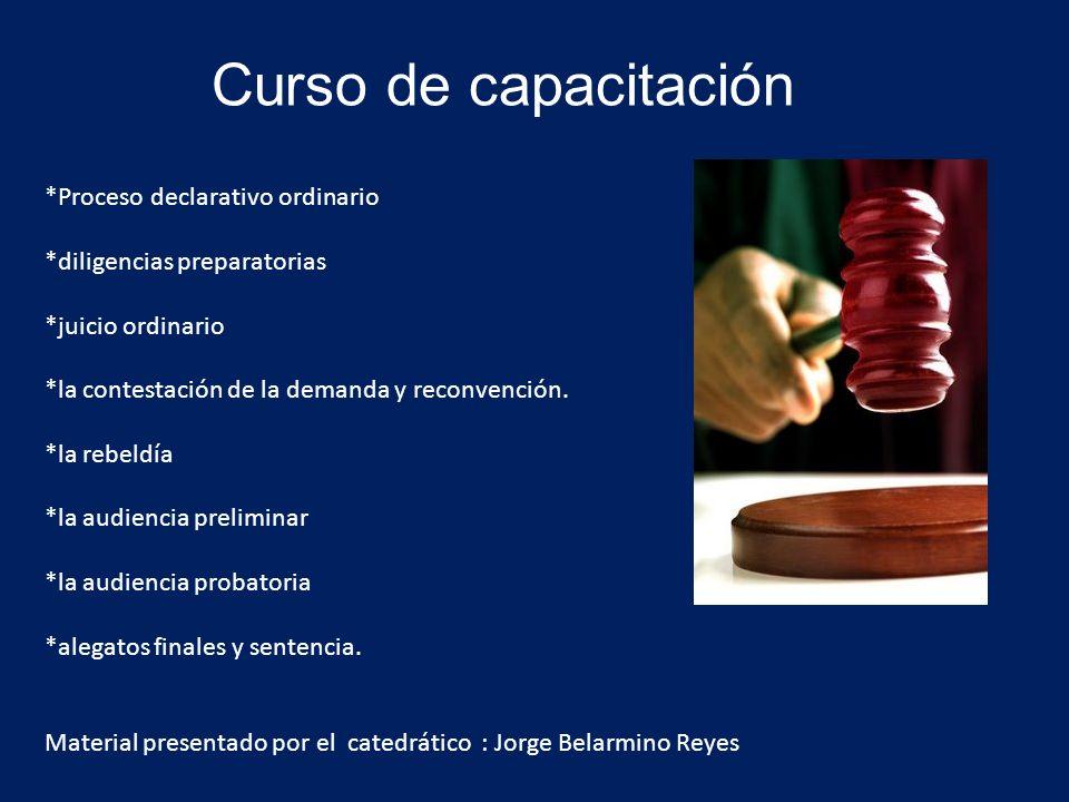 Curso de capacitación *Proceso declarativo ordinario