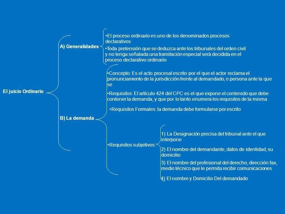 El proceso ordinario es uno de los denominados procesos declarativos