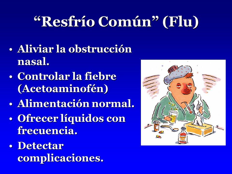 Resfrío Común (Flu) Aliviar la obstrucción nasal.
